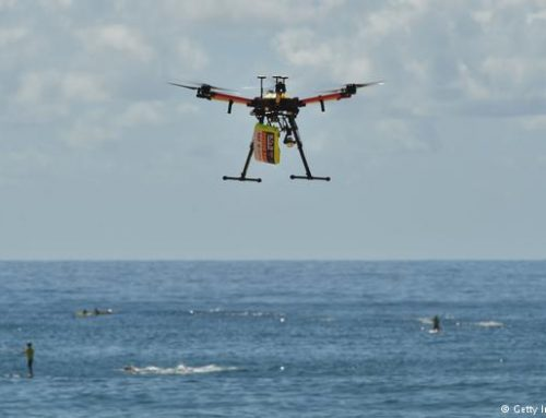 Drone saves two Australian swimmers in world first