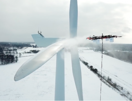 De-Icing Wind Turbines Is Easy With a Giant Drone